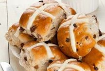 Hot Cross Buns / Nothing beats a hot cross bun toasted with butter.