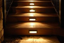 Lighting for wooden stairs / Under stair lighting or drop lights