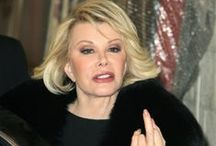Joan Rivers, how I miss her. / I love Joan. She was funny as hell, never backed down, never slowed down, a hard worker and honest about her insecurities. I miss her dearly.
