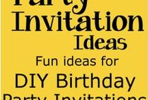 Invitations / Birthday Party Invitation ideas for kids, tweens and teen birthday parties.  Fun and unique ideas for do it yourself invitations.   Great for ages 1, 2, 3, 4, 5, 6, 7, 8, 9, 10, 11, 12, 13, 14, 15, 16, 17 and 18 years old.   / by Birthday Party Ideas 4 Kids