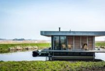 Houseboats (no vessels and barges) / I love houseboats! Living on the water is so special. I am working on some houseboat projects in the Netherlands and I am always looking for inspiration that can help me within the projects. Twitter: @waterloft