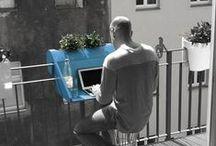 Ideas Balcón / ¿Tenéis un balcón pequeño y no sabéis cómo aprovecharlo? Hoy os dejamos par de ideas.