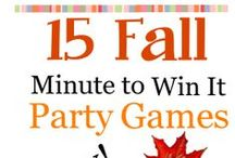 Fall Party Ideas / Fall and Autumn themed birthday party ideas for kids, tweens and teens.  Fall party games, scavenger hunts and fun ideas for kids ages 1, 2, 3, 4, 5, 6, 7, 8, 9, 10, 11, 12, 13, 14, 15, 16, 17 years old. #harvest #halloween #fall #games  / by Birthday Party Ideas 4 Kids