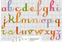 Cross Stitch Alphabet / Cross stitch alphabet / by Velle Mere Lyons