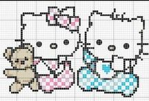 Cross Stitch Hello Kitty / Hello Kitty / by Velle Mere Lyons