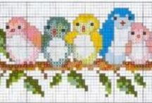Cross Stitch Birds / Butterflies / Birds, butterflies, and other creatures that fly. / by Velle Mere Lyons