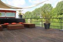 woonschepen - patio's en terrassen / by waterloft.nl