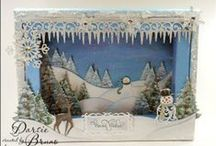 Holiday: Christmas DIY Scenes and Dioramas / Miniature Christmas diorama scenes