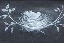 Craft DIY: Chalkboard / Chalkboard ideas and art
