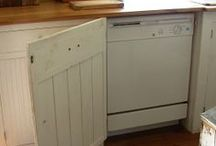 Craft DIY:Dishwasher Cover Up / ways to DIY a dishwasher cover