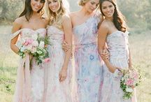 PPS Couture / long, mismatched, wedding, short, floral, watercolor, blush, blue, fall, summer, spring, country, vintage, neutral, lavender,  green, gray, beach, unique, boho, bohemian, pink, coral, sage, plum, teal, peach, yellow, white, taupe, mauve, dusty rose, off the shoulder, strapless, bridesmaid dress