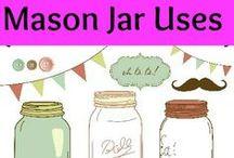 Mason Jar Uses~Dana Vento / Many uses of Mason Jars #pghfrugalmom