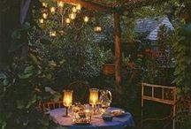Outdoor Spaces / What is your dream for your outdoor space?  A tiny secret garden?  Flowers blooming everywhere?  A placid pool to float in?  A cozy fire to curl up in front of?  Everything outdoors!