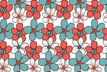 Patterns I love / I love surface pattern design.  If I feel overwhelmed I create patterns.