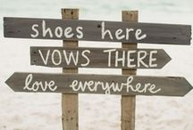 Beach Weddings  / Sandy feet, happily ever after. Beach wedding inspirations from centerpieces to guest favors and wedding decor. / by Seaside Inspired Boutique