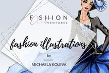 Michaela's Fashion Illustrations || Fashion ARTventures / Tutorials for beginners and advanced showing step-by-step how to sketch figures in different poses and render skin, hair and fabrics. Enjoy and if you like my videos, please feel free to share them!