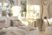 White, Weathered Inspiring Interiors / White, distressed, chippy wood furnishings and style. / by Seaside Inspired Boutique
