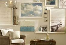 Beach Style Foyers and Vignettes / Whether you live at the beach or a city apartment, create a seaside vignette with a few subtle accents of beach decor. / by Seaside Inspired Boutique