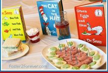 Dr. Seuss Birthday Food Ideas / Dr. Seuss food and snack ideas for a menu for a themed birthday party or baby shower.