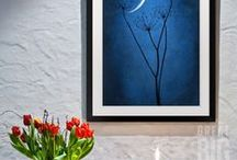 Blue Art / Find blue wall art in every shade, from tones with vibrant rhythm and soul to quiet, cloud-streaked morning sky.