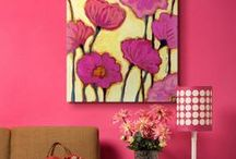 Pink Art / Soft, romantic, or fiery bright, pink is a timeless color that demands attention and looks great in any space.