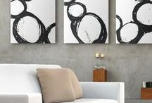 Black & White Art / Dark and dramatic, black wall art works well in any space. Abstracts, modern art, and fine photography make an appearance in this collection.