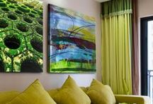 Green Art / Go green with this collection of art, ranging from more muted, earthy tones to lime green and everything in between.