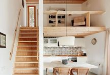 Design ~ Small Spaces / Engineering meets art. Small spaces hold their own special challenges and rewards. Give me a small space to decorate any day, over a boring cavernous room.