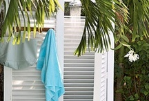 Outdoor Showers / Relax while you rinse. Outdoor showers are a fun way to celebrate the warmth of summer or rinse off after a dip in the pool. / by Seaside Inspired Boutique