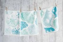 Beach Towels / Hand towels, guest towels and kitchen towels all with a beach style in mind. / by Seaside Inspired Boutique