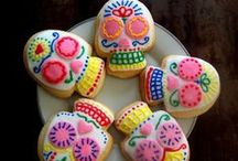 Day of the Dead / day of the dead cookies, dia de los muertos cakes, breads and cookies.