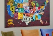 """Map Art / Places to see, maps to explore-a variety of """"locations"""" in a vast assortment of art styles."""