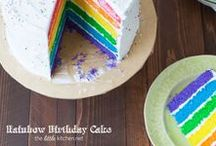Rainbow Party / Rainbow birthday parties, cupcakes, cakes and more.