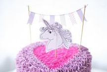 Unicorn Party / Unicorn cakes, cookies, birthday parties and crafts.