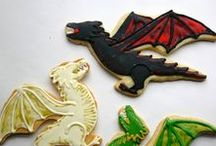 Medieval Party / Castle and dragon parties, cookies, cakes and party decor.