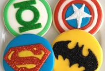 Super Hero Party / Super hero birthday parties, cookies, cakes and crafts.