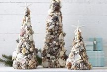 Seashell Christmas / Natural seashell ornaments and Christmas decor / by Seaside Inspired Boutique