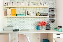 Home ~ Office / Sometimes an office, sometimes a craftroom, or even a workspace. These rooms are all creative and inspiring, whatever their owners spend their time doing in them.