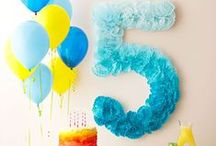 Number Birthday Party / Birthday parties with number decorations and cakes. Whether it's a 1st, 4th, 15th, 16th or 50th, you'll find ideas here.