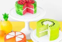 Tutti Frutti Party / Fruit themed (and flavored) cookies, cupcakes, pinatas and party decorations.