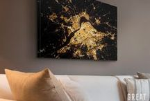 Gold Art / Glamorous gold has never looked better. With typography, modern design, and abstracts all featured in an array of gilded pieces, this collection gives any space the Midas touch. Each canvas in this collection is printed with archival ink that rivals the look of gold foil, but with a more subtle appearance.