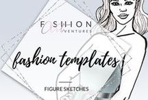 Fashion Figure Templates || Fashion ARTventures / Are you a creativepreneur or a fashion designer with  a tight time schedule? Invest your time and efforts in the garment-construction process.  Be more efficient and leverage your talents with fashion templates that are easy for you to use without wasting a ton of time. The figure croquis here are based on the ten heads scale, which makes them ideal resource for every professional or aspiring fashion designer or fashion illustrator.
