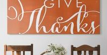 Thanksgiving Art / Express your good taste in decorating with this cornucopia of Thanksgiving art, from vintage greeting cards to trendy typography.