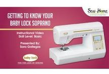 Online Sewing Classes / Check out Baby Lock's educational video classes online at http://sewathomeclasses.com/ / by Baby Lock