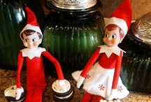 The Art of Elf on a Shelf / We have 3 elves that come to our house every year the night of Thanksgiving to start our Christmas Celebration. Our elves names are Gabriel, Averie and Diamond. Averie is Sarah's elf and Diamond is Hannah's. Gabriel was our first elf and will always stay here with us. Our elves report back to Santa, but they also leave us little reminders of the TRUE meaning of Christmas and of the fruits of the spirit. We enjoy the Elf on the Shelf experience very much!!