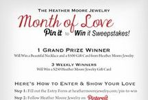 #LoveHeatherMoore  / Pin your ultimate love collection with Heather Moore Jewelry for a chance to win a beautiful necklace and a $500 Gift Card from Heather Moore Jewelry - 3 Weekly Winners will receive a $250 Heather Moore Jewelry Gift Card!