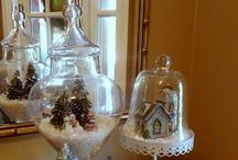 The Art of Cloches / My hubby and I began dating in Germany, so everything about German Art and traditions fascinates me!  I love to purchase putz houses and many other items to make these beautiful scenes within glass.  I'm looking forward or making them for other seasons of the year as well!