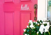 Home DIY: Entryway / Front doors, foyers, mudrooms. First impressions matter, after all! / by Laura Williams
