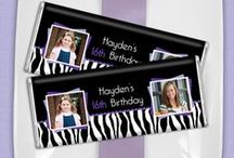 Animal Print Parties / Leopard, Zebra & Giraffe prints, oh my!  / by Personalized HERSHEY'S® Chocolate Bars & Wrappers by WH Candy