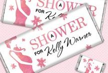 Baby Shower for Girls / It's all about pink and bows when the mother-to-be is expecting a girl. These shower ideas are perfect when you're tickled pink. / by Personalized HERSHEY'S® Chocolate Bars & Wrappers by WH Candy